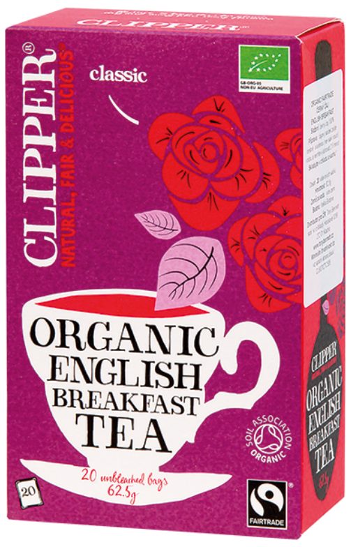 Bio Černý čaj čistý 20x3,12g - Organic English Breakfast Tea