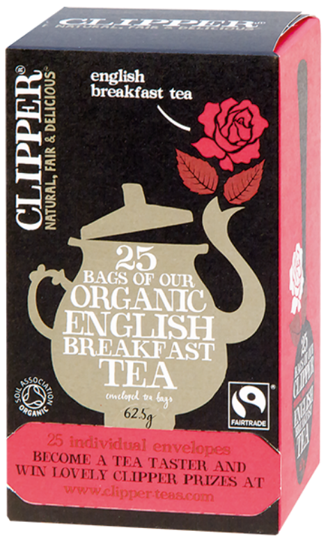 Bio Černý čaj čistý 25x2,5g - Organic English Breakfast Tea