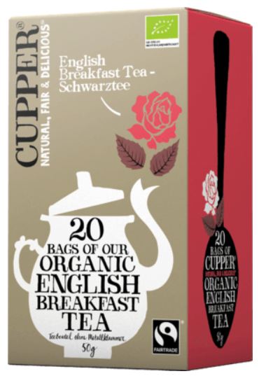 Bio Černý čaj čistý 20x2,5g - Organic English Breakfast Tea